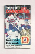 1987-88 Sked Montreal Canadiens Schedule