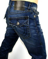 True Religion $299 Men's Ricky Moody Blue Relaxed Straight Super T Jeans -100900