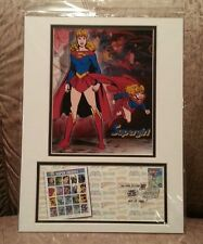 DC Comics Super Heros Supergirl First Day Issue Stamp & 8x10 Composite Matted