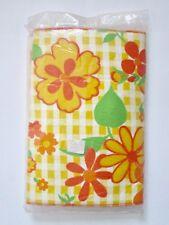 Nos Unopened Vtg 60s 70s Mod Yellow Orange Flower Power Ironing Board Cover