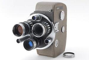 【Exc+5】Sankyo 8R Movie Film Camera, Olympus Cine-Zuico 3 lenses from Japan 333