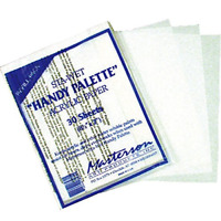 Masterson Sta-Wet Handy Palette Pack of 30 Handy Palette Acrylic Paper White NEW