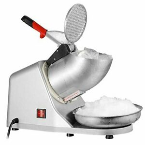 300W Ice Shaver Machine Snow Cone Maker Shaved Icee 143 lbs Electric Crusher New