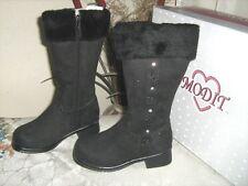 New Girls Modit Black Boots w/Zipper Size 11