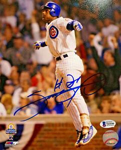 Chicago Cubs Sammy Sosa Signed 8 x 10 Photo HR Jump - Auto Beckett BAS Witnessed