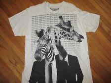 GIRAFFE ZEBRA WE RUN THIS CITY T SHIRT Sunglasses Men In Black Urban Zoology LG