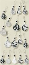 Artoz Large Christmas 3D Stickers - Christmas Baubles in Black & Silver