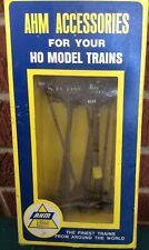 AHM HO Scale 12 Piece Plastic Telephone Poles NIB #5610