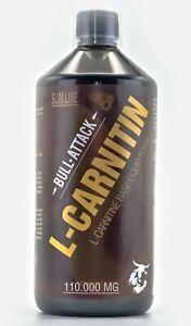 1L L-Carnitin Liquid HOCHDOSIERT 110.000mg Stärkstes Carnitine - Fettverbrennung