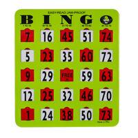 Easy Read Jam Proof Large Bold Print Bingo Slide/Shutter Cards- Pack of 25 Cards