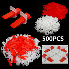 500 Tile Leveling Spacer System Tool 1mm Clips + Wedges Tiling Flooring Lippage