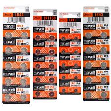Button Cell Maxell LR41 LR43 LR44 LR1130 Batteries Battery