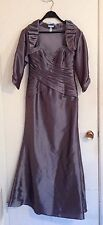 JADE Size 2 Pewter Evening Gown Formal Mother of the Bride Dress 3 Piece J3320