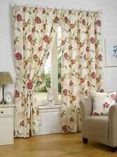 Floral Traditional 100% Cotton Curtains & Pelmets