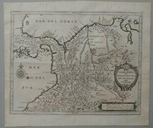 Colombia old map Joannes De Laet