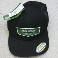 New John Deer Tractors Hat Black Green Toddler Kids Stretch Fit Boys 1 Size Cap