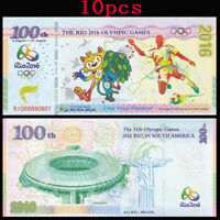 10pcs Brazil Rio Olympic Games Fancy Test Note, 2016, UNC