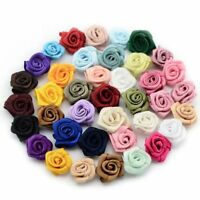 15mm Fabric Craft Appliques Satin Rose Ribbon DIY Wedding Flower 480 Pcs/lot