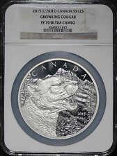2015 Canada $125 Silver 1/2 KiloGrowling Cougar NGC PF-70 Ultra Cameo -165791