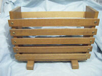 Retro Vintage Mid Century Solid Wooden (Teak?) Magazine / Newspaper Rack