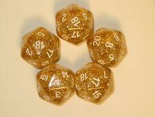 RPG Dice Set of 5 D20 - Glitter Yellow
