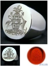 SIGNET RING CUSTOM ENGRAVED WAX SEAL XL-EXTRA LARGE SILVER 925 BY JOLLER