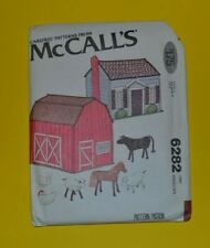 McCalls 6282 sewing pattern, child's toy house, barn and animals