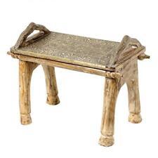Orientalischer Indischer Hocker Sitzhocker Beistelltisch Holzhocker Stuhl Asha
