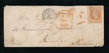 FRANCE 1856 IMPERF 40c to PIMLICO LONDON PAID TOMBSTONE