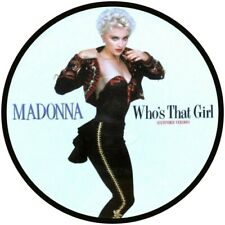 """MADONNA WHO,S THAT GIRL  VINYL STICKER  100MM ROUND 4"""" QUALITY MORE LISTED"""