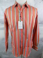 $198 NWT Robert Graham Long Lane classic Fit L/S Woven Shirt Orange Size-XL