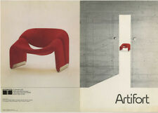 1973 Pierre Paulin 598 CHAIR vintage ARTIFORT Modern Furniture Design Brochure