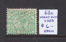 Victoria: 1/2d Green Qv Stamp Duty Type Asc 63c Used