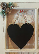 Small Hanging Heart Chalkboard Rustic Country Chic Wedding 17cm X 18cm