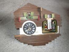Ancien coucou personnages tyrol et oiseau thermomètre à restaurer ou déco
