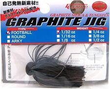 LUCKY CRAFT JAPAN GRAPHITE JIG FOOTBALL  1/32 - 06900883 Black/Brown