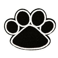 Dog Paw Patch Embroidered Iron Sew On Applique Badge Cat Wolf Bear