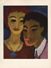 "1959 Vintage EMIL NOLDE ""BROTHER and SISTER"" WONDERFUL COLOR Offset Lithograph"
