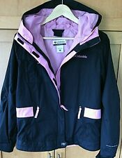 Columbia Women's Jacket Hooded Water-Resistant Omni-Shield Pink Youth Size Coats