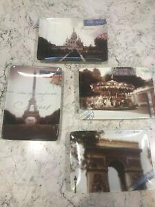 "Set of 4 Restoration Hardware Carte Postal Plates 6 1/4"" X 4 1/2"""