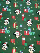 Mickey Minnie Christmas Presents Gifts Cotton Fabric~Disney~Fat Quarter FQ 18x22