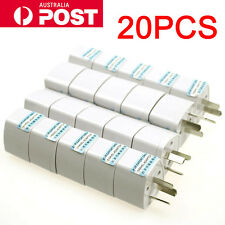 20PCS Universal AU AC Power Plug Adapter Travel 3 Pin Converter Australian New