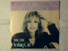 "CARLY SIMON Let the river run 7"" ITALY COLONNA SONORA WORKING GIRL"