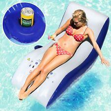 Wasserliege Schwimmliege Wassersessel Badeinsel Poolsessel Wasser Luftmatratze