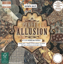 DOVECRAFT PERFECT ALLUSION PAPERS 8 X 8 SAMPLE PACK 16 SHEETS -  POSTS 1ST CLASS