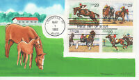 SSS: Tom Dunne Colorano HP 1993  29c Sporting Horses  Sc #2756-59