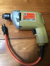 "Vintage Black & Decker Electric 1/4"" Drill Model 7004 Great Operating Condition"