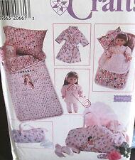 "Ealine Heigl 18"" doll sleeping bag robe sleep over duffle bag pattern girls"