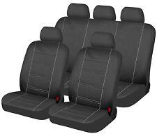 Housse pour siege voiture luxe fractionnable epaisse rayée gris comp airbags