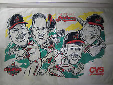 "RARE Cleveland Indians 1997 PILLOW CASE ALCS Champs 19"" x 31"" OMAR Thome Lofton"